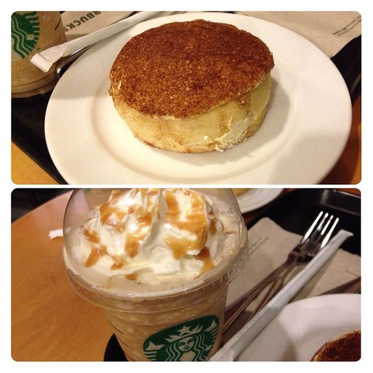CaramelFrappe and CinnamonSwirl Starbucks .. Thanks for the treat :-)