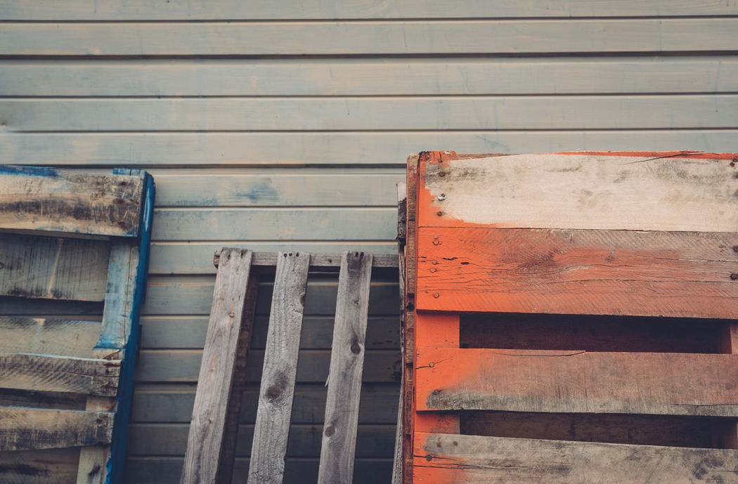 Close-up Crates Day Leaning Multi Colored No People Outdoors Wood - Material Wooden