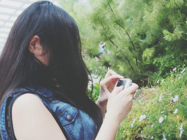Photo Flower Garden Girl