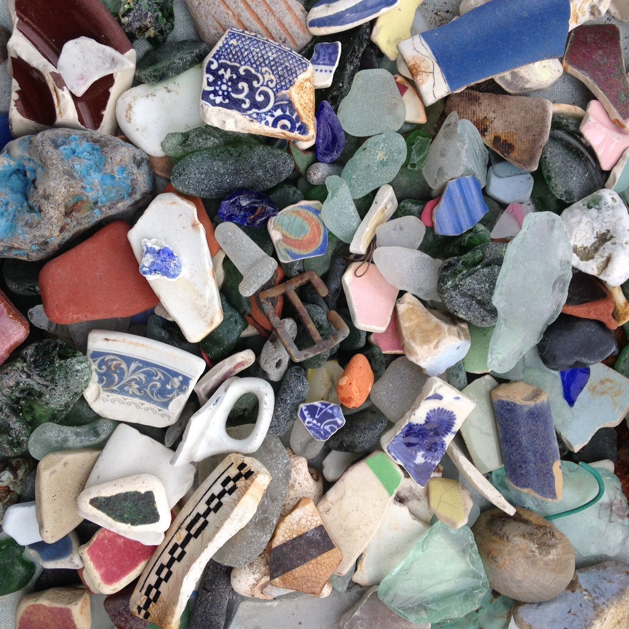 Abundance Arrangement Beach Beach Finds Beachcombing Beachphotography Ceramic Sherds Collection Distressed FX Full Frame Heap Jurassic Coast Multi Colored Pottery Rusty Seaglass Weathered