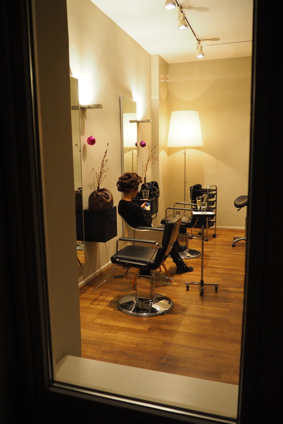 Chair Curier Hairdresser Indoors  New Hair Cut Occupation Seat Sitting Waiting