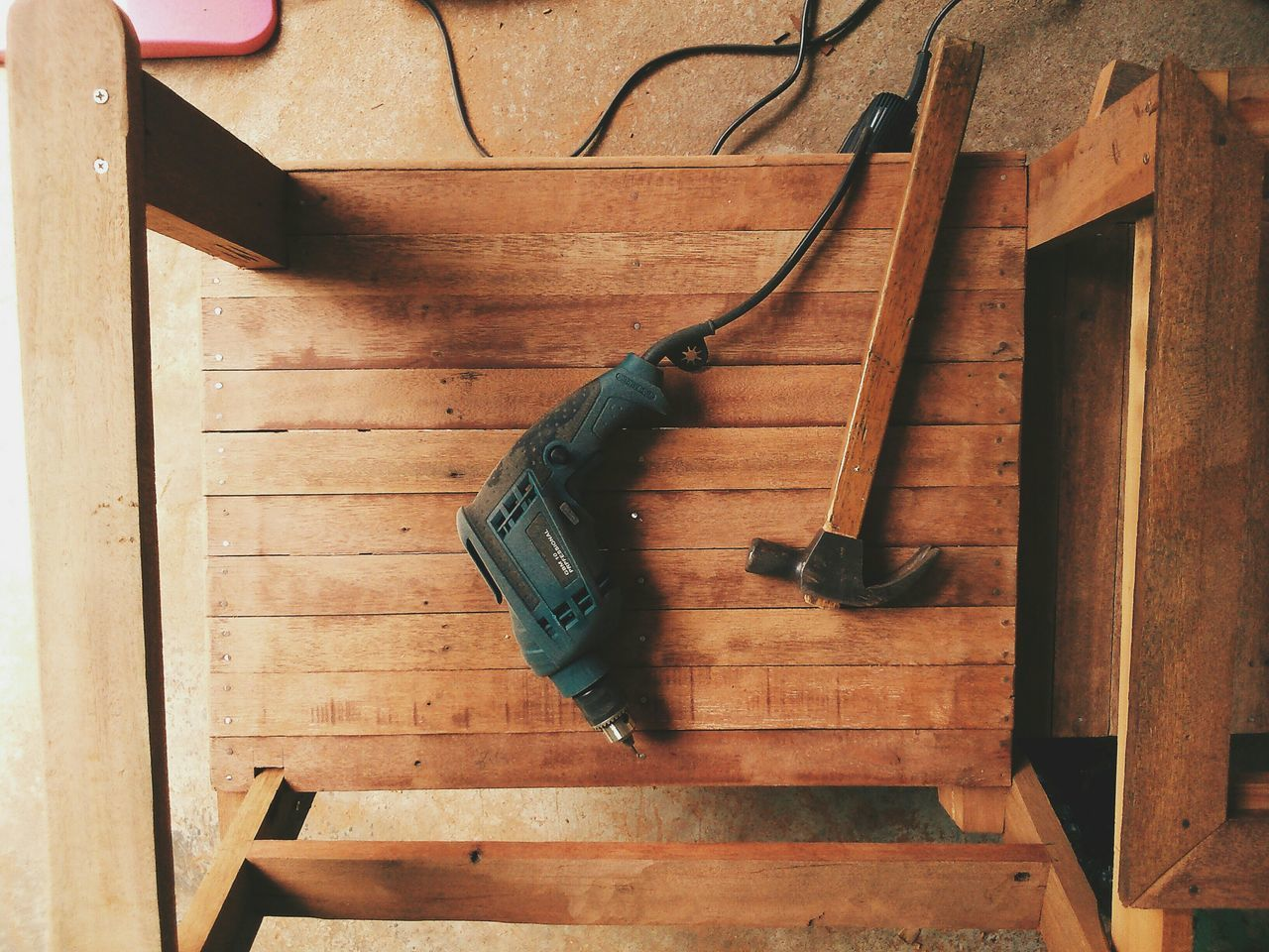 Beautiful stock photos of tools, Carpentry, Day, Directly Above, Drill