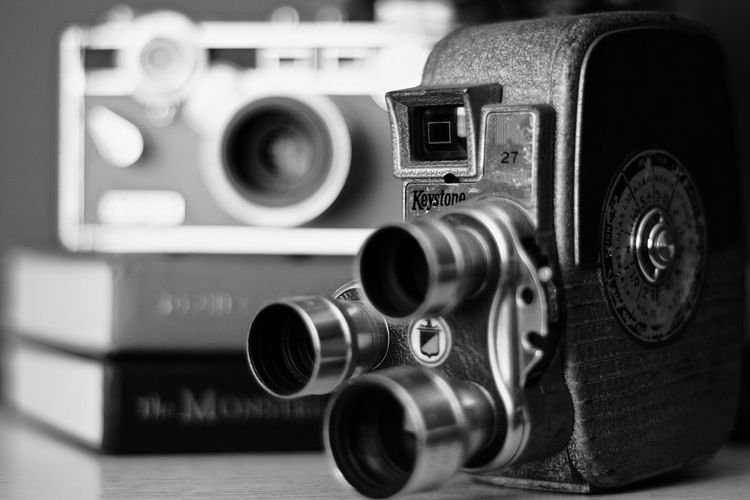 Bygone Retro Styled Technology Camera - Photographic Equipment Close-up No People Photography Themes Single Object Old-fashioned Indoors  Electronics Industry Day