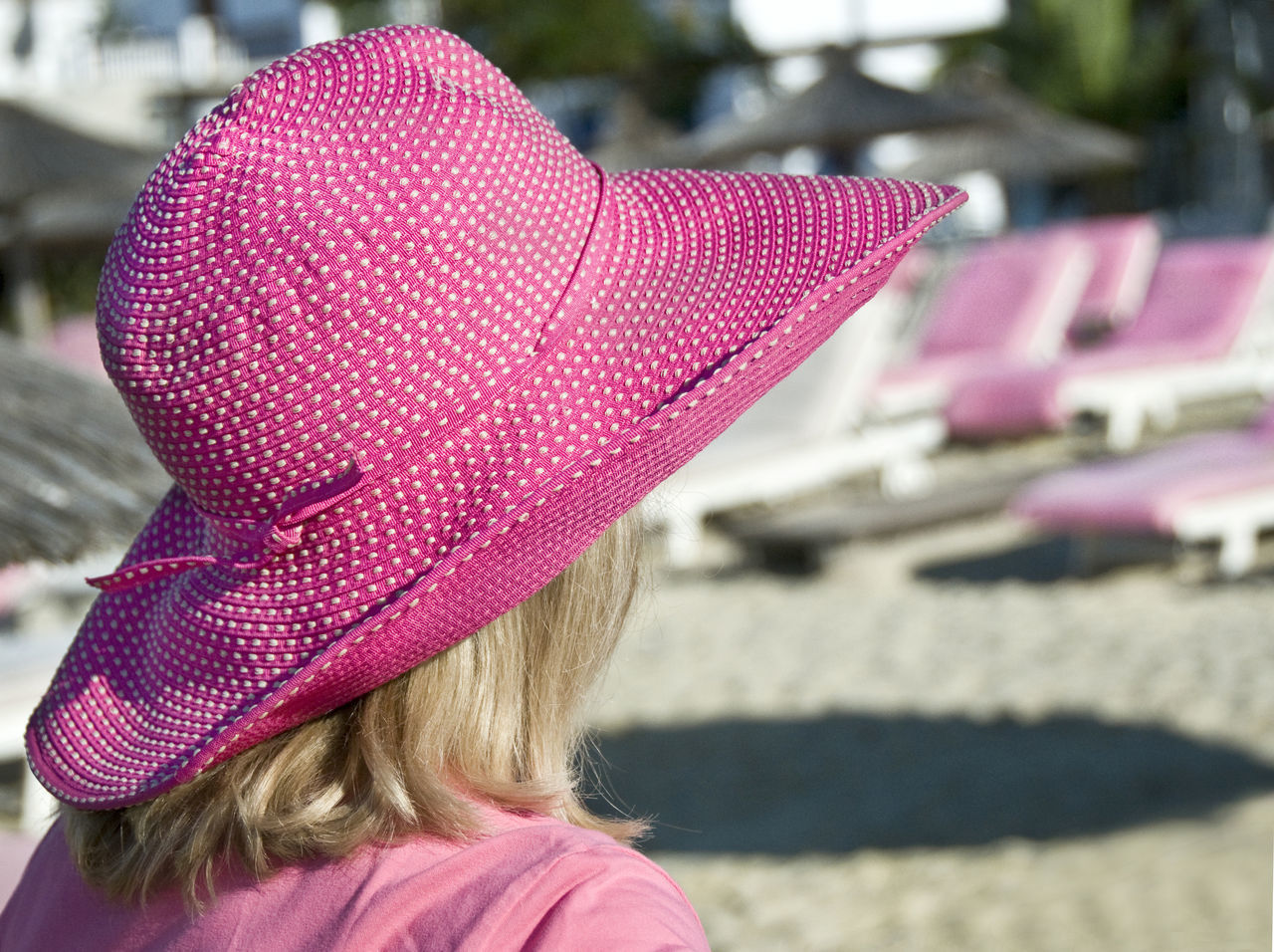 Pink Color Polka Dot Hat Polka Dots  polka dot hat Wearing Hat Whatwhowhere Pattern Pieces