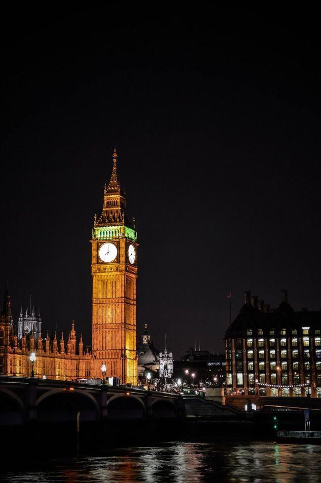 Night Architecture Travel Destinations London Big Ben City Long Exposure