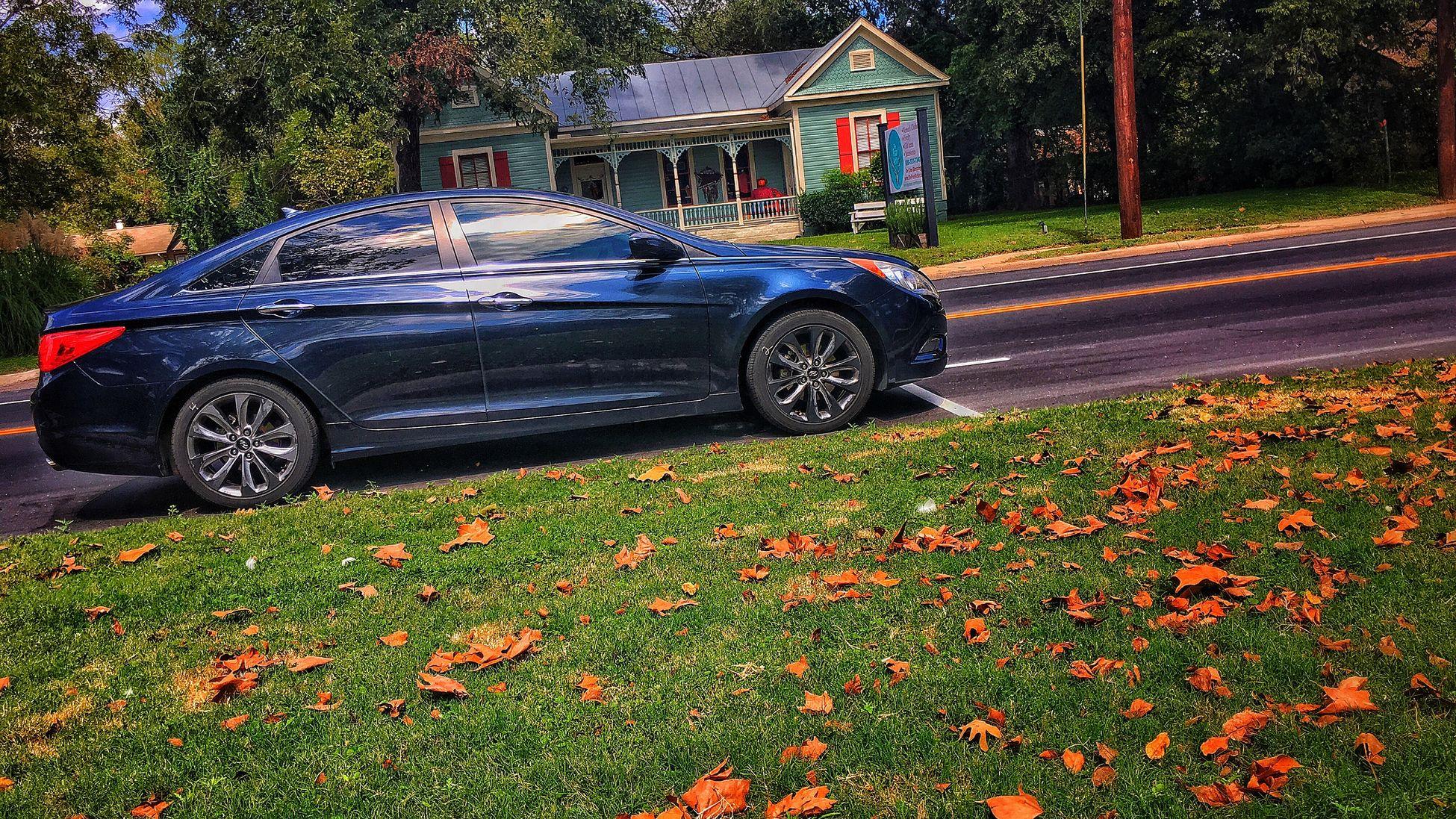Car portrait IPhone 6s Plus IPhoneography IPhone Texas Boerne Car Fall Season Boerne River Park
