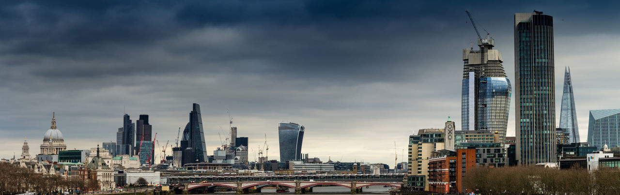 Panoramic featuring some London landmarks Cheesegrater Building City Cityscape Daytime Famous Building Famous Buildings London London London Landmark London Landmarks London_only LONDON❤ Panoramic Panoramic Landscape Panoramic Photography Shard St Pauls Cathedral Walkie Talkie Building
