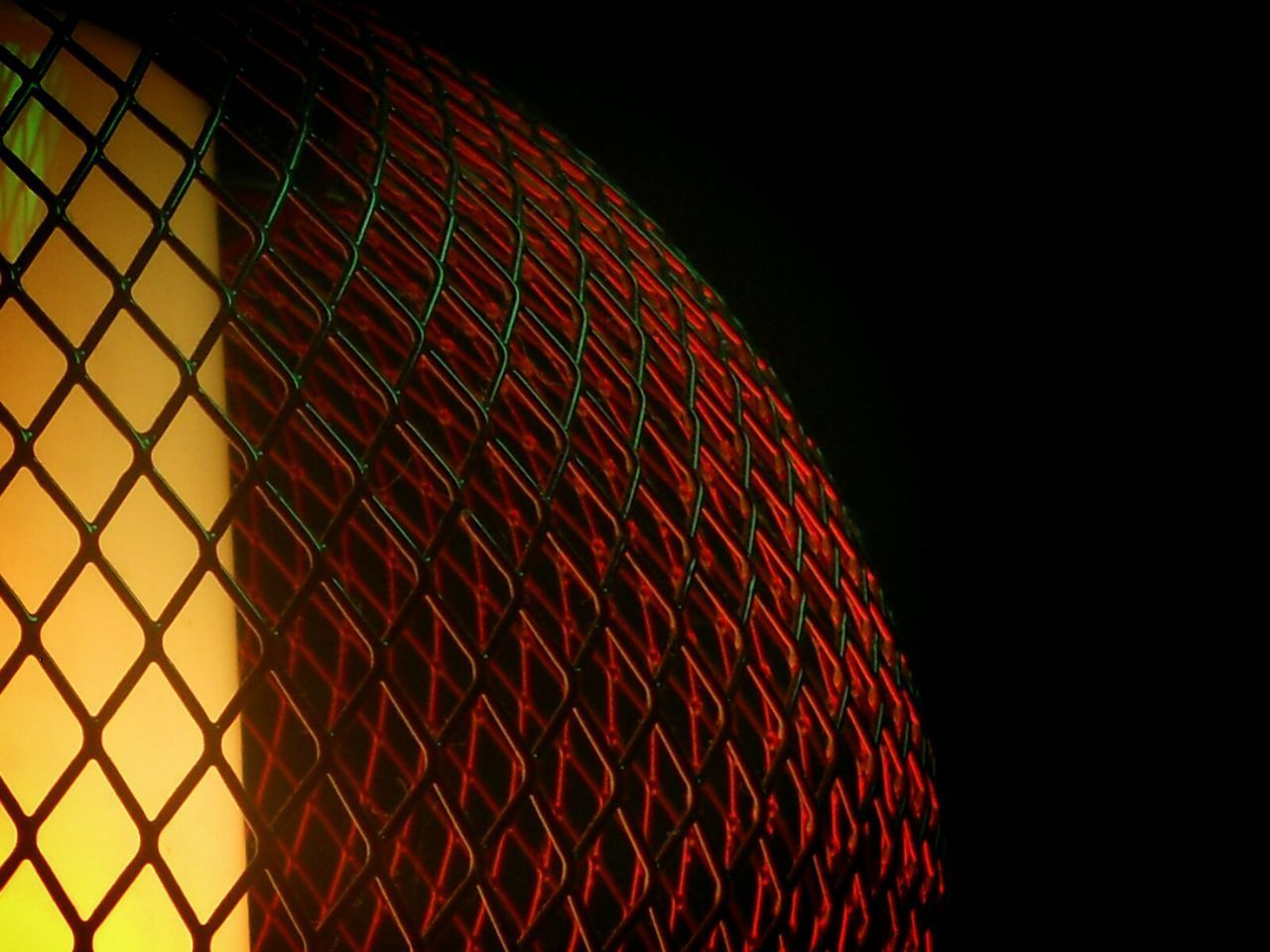 Close Up Technology Pattern Red Textured  Netting Close-up Night Black Background No People Closeupshot Close Up Photography Indoors  Iron - Metal Dark And Light Darkness And Light Design Interior Design From My Point Of View Eye4photography  EyeEm Best Shots Iron