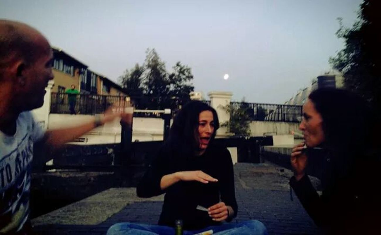 Chilling With Friends Camden Lock Moonshine Good Times