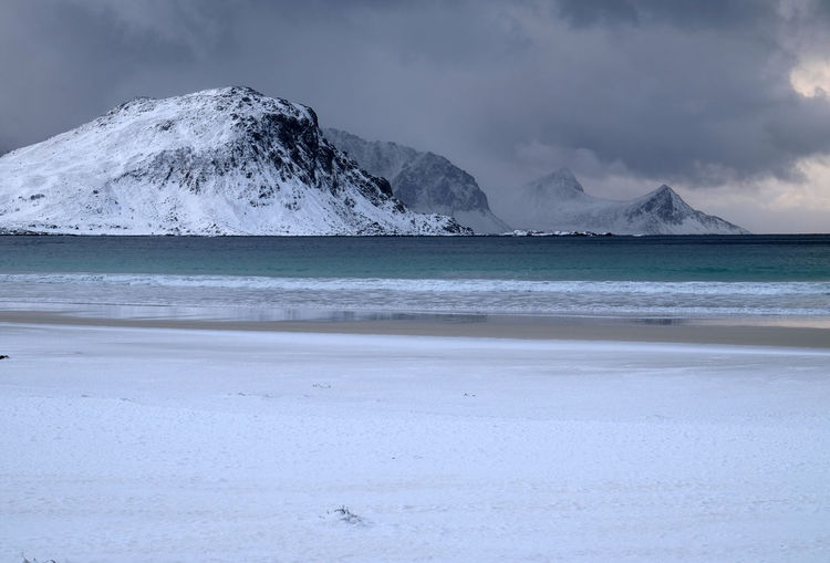 Lofoten Island, Winter Season Beach Cloud - Sky Cold Cold Temperture Coldness Extreme Weather Landscape Lofoten Islands Lofoten Norway Mountain Nature No People Northsea Norway Norwegian Outdoors Sea Season  Snow Snow Covered Storm Stormy Travel Understanding Winter The Great Outdoors - 2017 EyeEm Awards