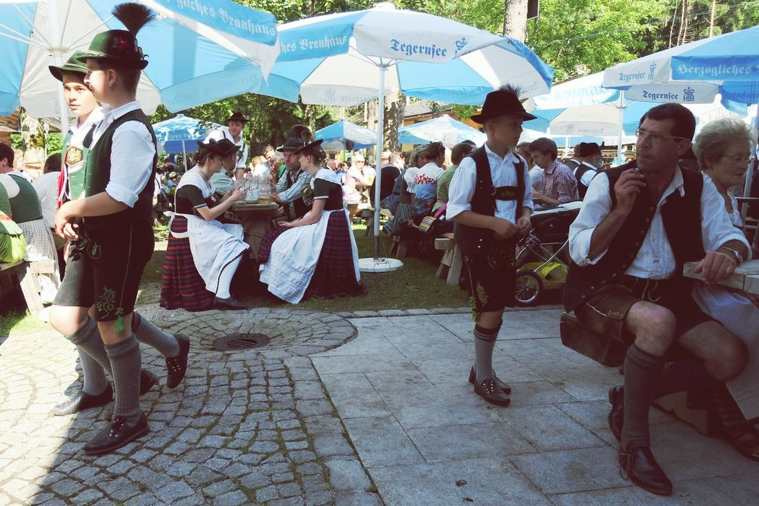 A scene from the beerfest. EyeEm Best Shots Hello World Canon G9x Bayern Bavaria Bayern Germany Summertime Traditional Culture Tradition Drinking Beer Beer Waldfest Bierfest Traditional Clothing Lederhosen Dirndl Taking Photos Taking Photos