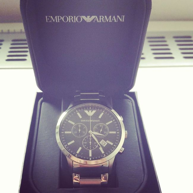 Yestrday I got gift from mine mom and dad :) I like it a lot Armani❤
