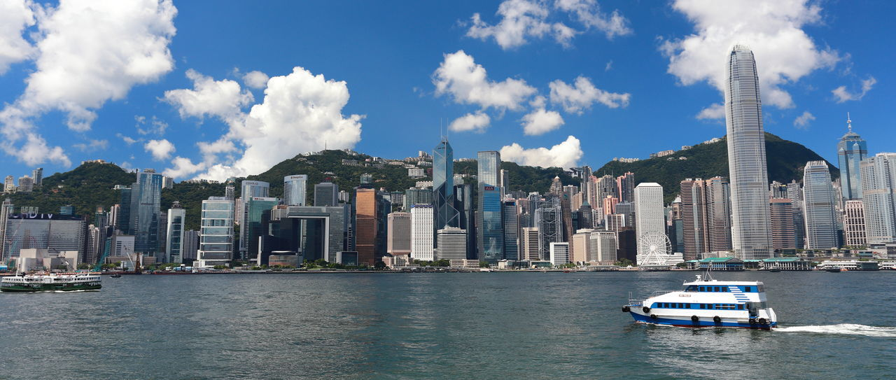 Architecture Blue Building Exterior City Cityscape Cloud - Sky Day Hong Kong Hong Kong Victoria Harbour Outdoors Sky Travel Destinations Victoria Habour Victoria Harbor View Water Waterfront