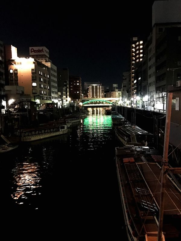 Architecture Building Exterior Illuminated City Built Structure Water Reflection Night Canal Modern No People Outdoors Nautical Vessel Sky