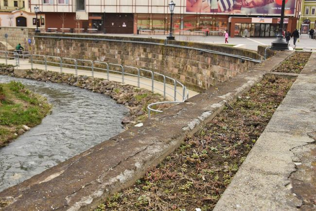 Architecture Canal City City Life Concrete Day Eger Grass Hungary Outdoors The Way Forward Walkway Walkwaywhy