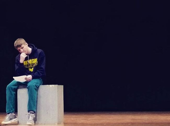 When you actually get a good picture of someone on a stage from the middle of the auditorium. Picture Monolouge Drama Goodpicture Cred Me Photography Photo Boy Stage