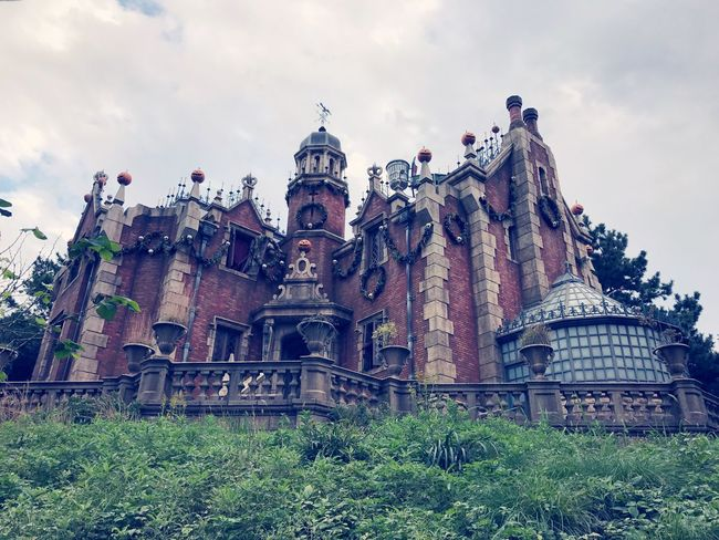 Haunted Mansion, Disneyland Tokyo, Japan. Building Exterior Architecture Outdoors Travel Destinations No People Tourism Arts Culture And Entertainment