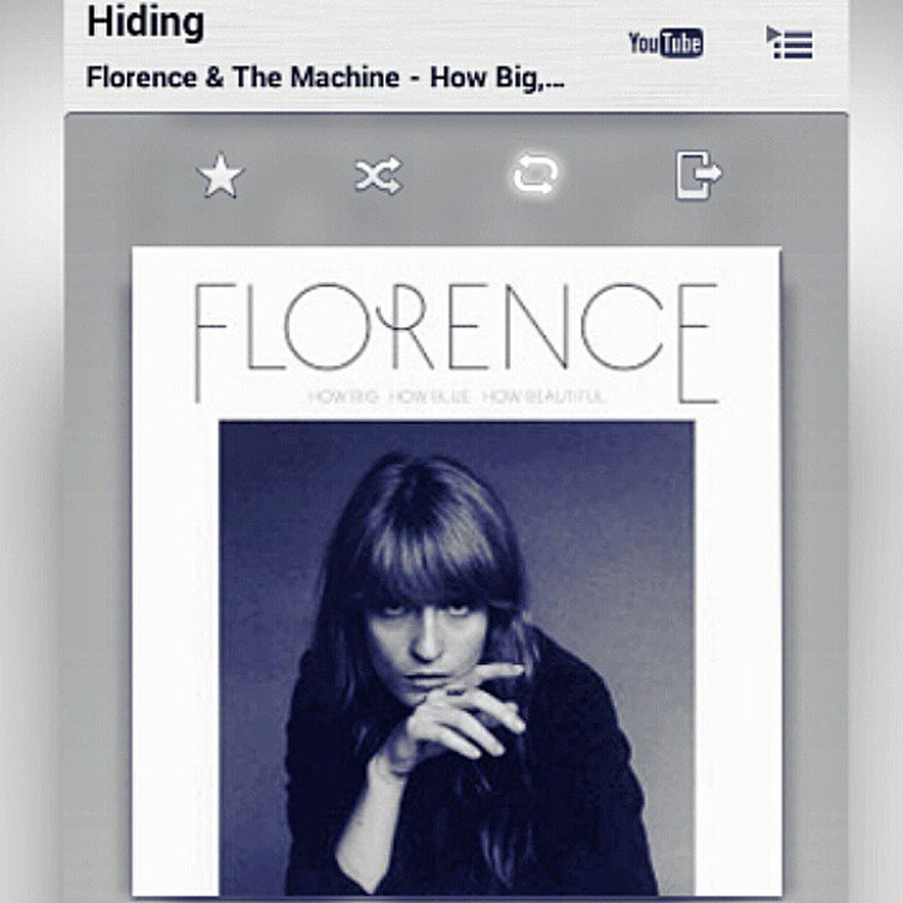 """I know there's a part of you that I just cannot reach, you don't have to let me in"" Florencewelch Florenceandthemachine Howbluehowbighowbeautiful Hiding deluxe amazing iloveit music"