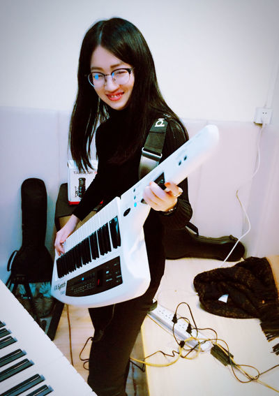 That's Me Music Musician Music Is My Life Musical Instruments Practicing Enjoying Life Electronic Music Keyboard Roland Popular Photos Happy Happy People Asian Girl Rock Rock'n'Roll