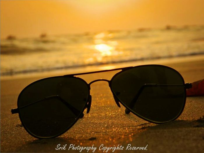 Sunshine..and a shades Glasses Goggles Beach Sunset Seashore Waves, Ocean, Nature