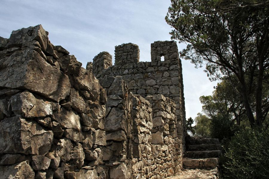 Old Ruin Architecture Built Structure Day No People Outdoors Sky Tree Ancient Civilization Castle Ruin Castle Sesimbra Portugal Stone