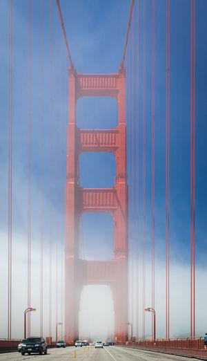Architecture California Cars Day Fog No People Outdoors San Francisco San Francisco Bay Bridge Tourism Transportation Travel Destinations USA West Coast