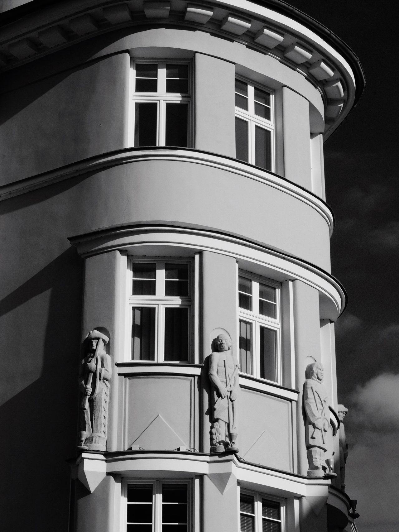 Architecture Window Outdoors Day Blackandwhite Czech Republic Liberec OlympusPEN City
