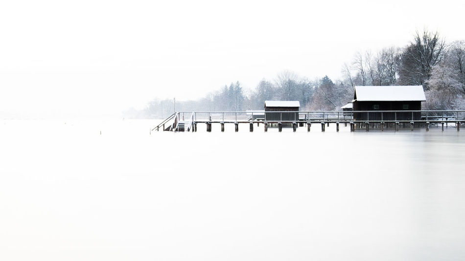 surreal Beauty In Nature Clear Sky Cold Temperature Copy Space Field Nature No People Outdoors Remote Scenics Snow Solitude Tranquil Scene Tranquility Winter