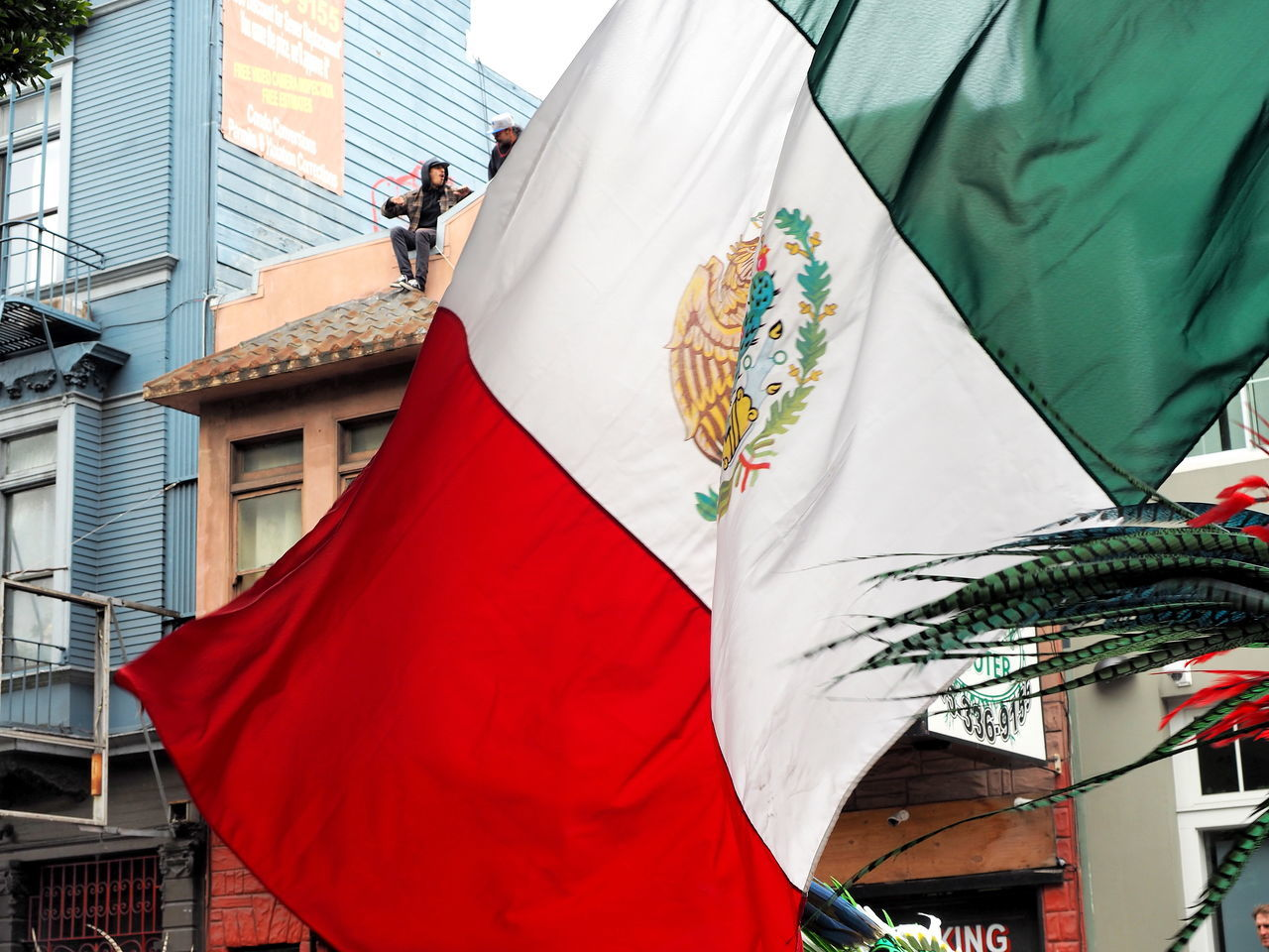Beautiful stock photos of mexican flag, Architecture, Building Exterior, Built Structure, City