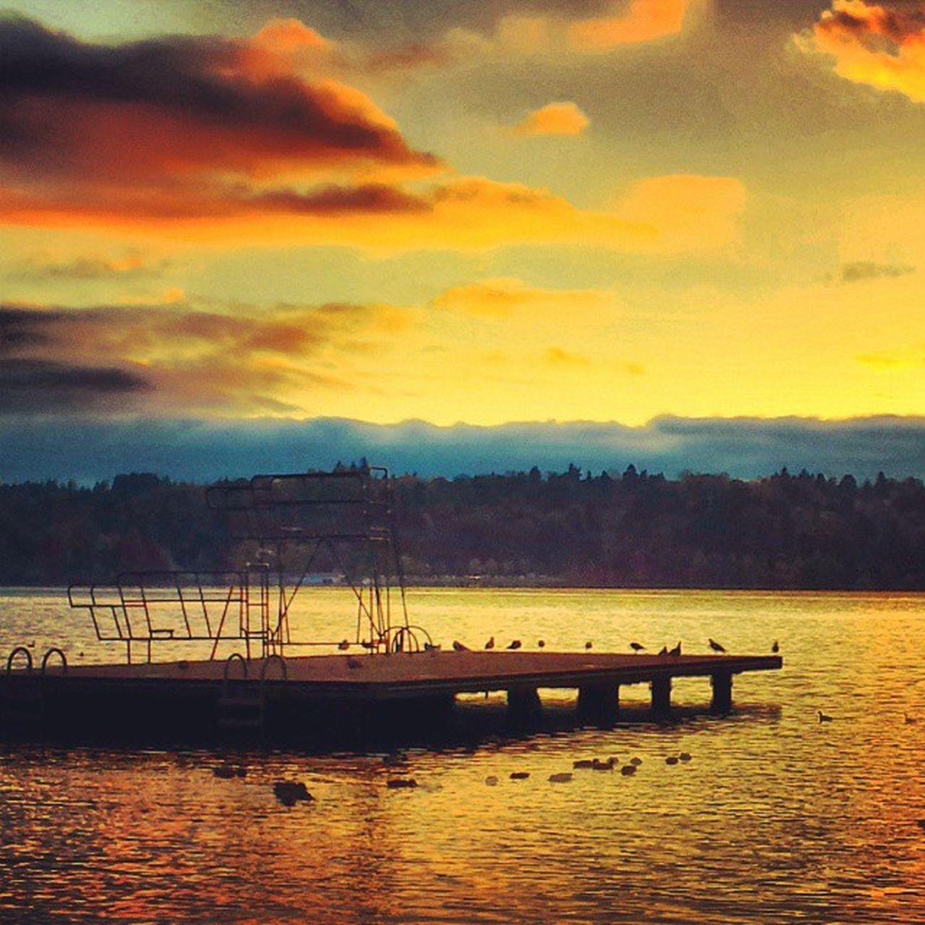 Green Lake at sunset