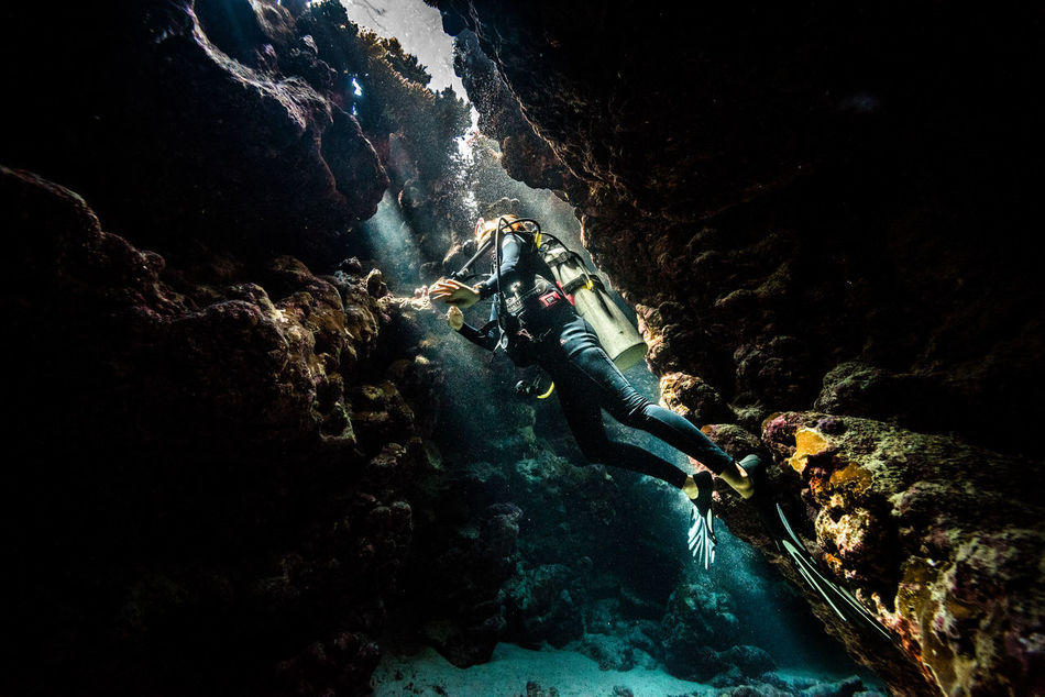 red sea Adventure Aquatic Sport Beatiful Nature Cave Danger Escape Exploration Explorer Extreme Adventures Extreme Sports Light And Shadow Mountain Ocean Real People RedSea RISK Rock - Object Rock Climbing Scubadiving Solo Traveller Sports Helmet Travel Photography Underwater Unusual Beauty Water