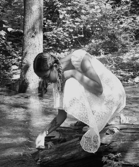Tadpoles Creek Lace Dress Pigtails  Nature On Your Doorstep Northeast PA Picturing Individuality
