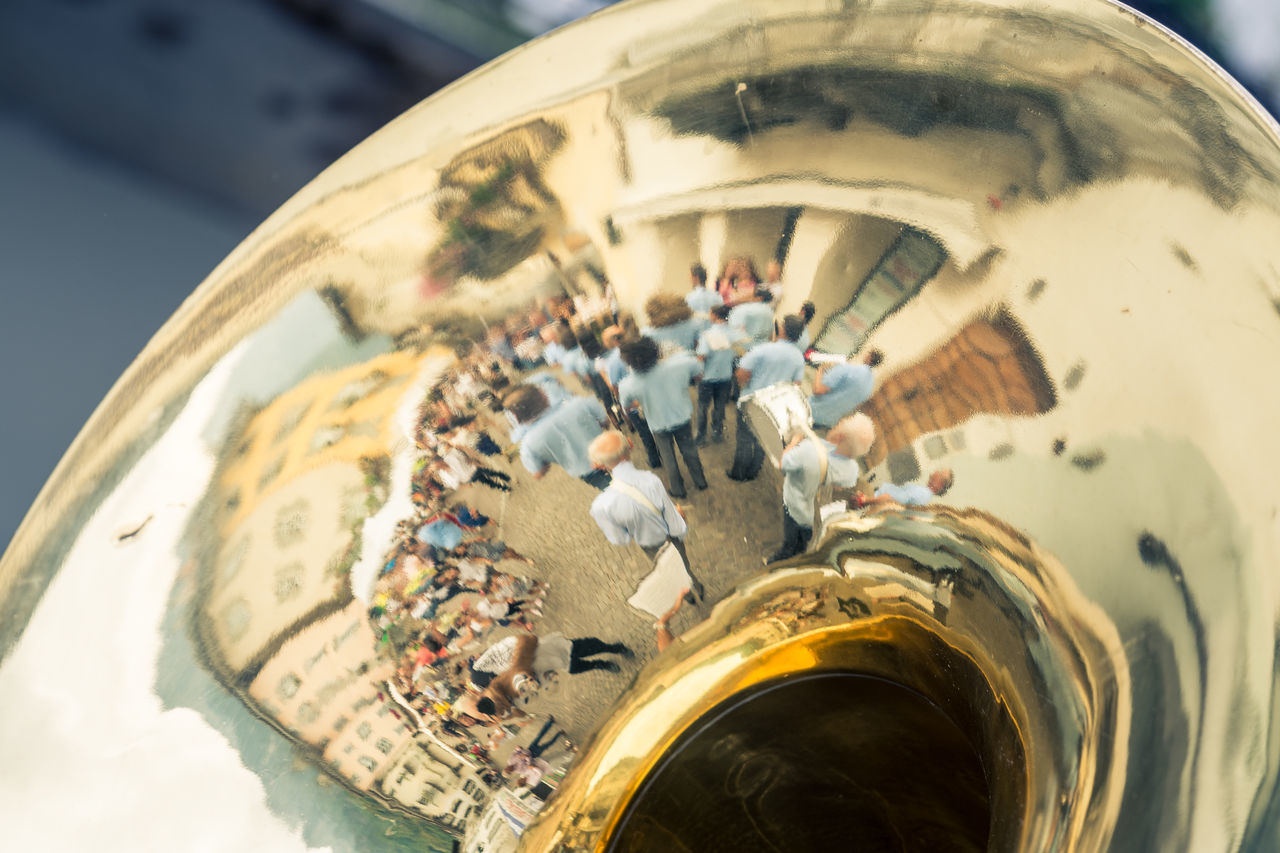Arts Culture And Entertainment Close-up Music Musical Instrument No People Outdoors Reflection Reflection Reflection_collection TakeoverMusic Tube