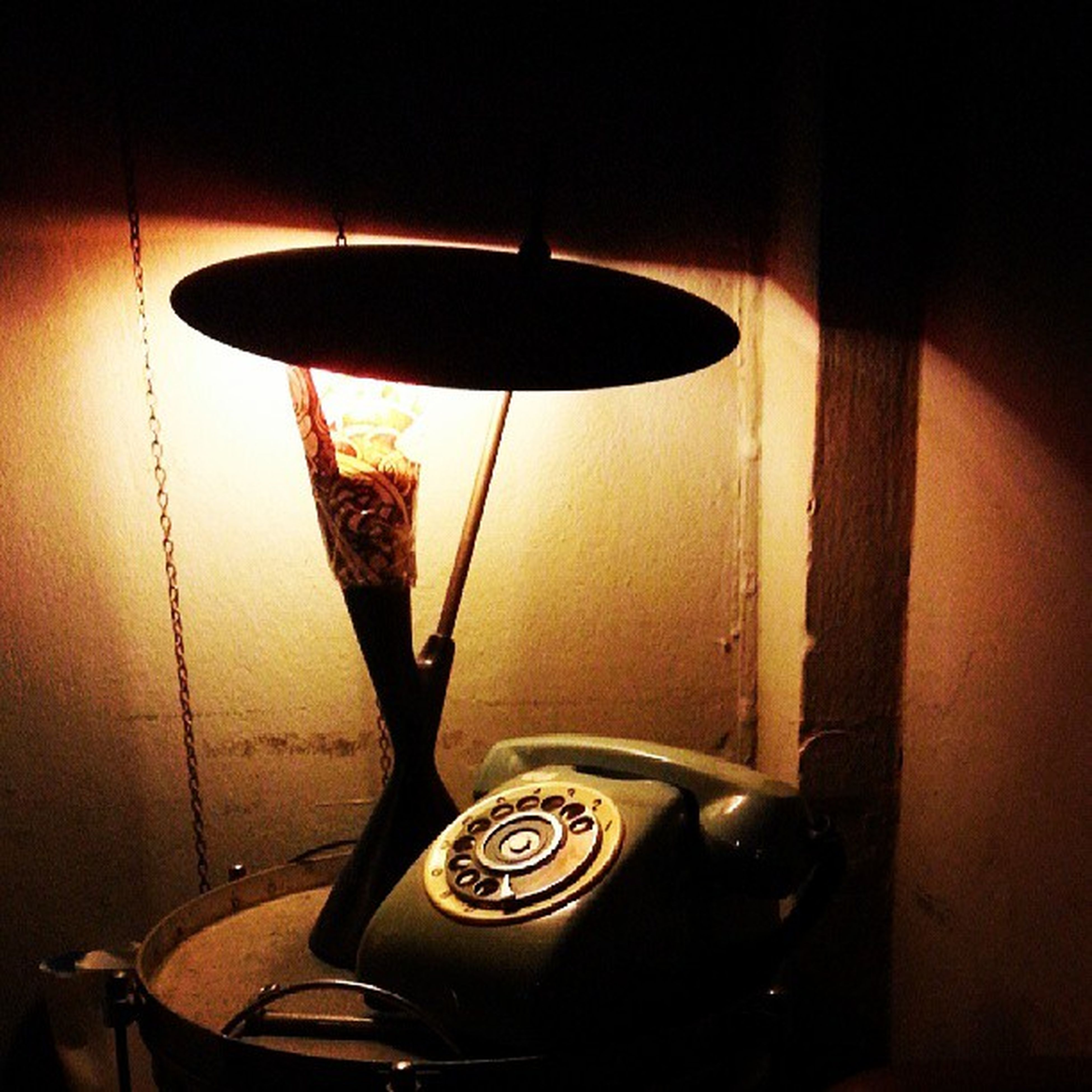 indoors, old-fashioned, wall - building feature, illuminated, electricity, lighting equipment, close-up, metal, retro styled, no people, technology, hanging, old, still life, absence, home interior, wall, electric lamp, antique, door