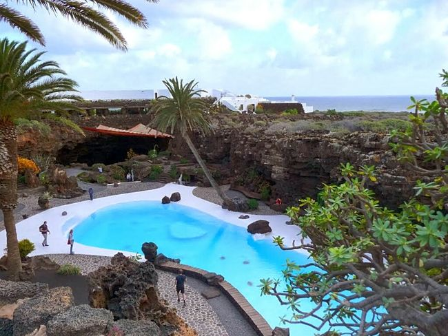Canary Islands Round Trip White Pathways Holiday POV Beliebte Fotos From Above  Turquoise Water Jameos Del Agua Beautiful Composition Impressive, Striking, Spectacular, Breathtaking; Panoramic Blue Sky White Clouds The White Album Impressive Locations Palm Trees Impressive Colours Things I Like Coconut Trees Tourist Destination Wonderful Place Lanzarote Collection Impressive Pool Architecture Cesar Manrique Impressive View White Album Ladyphotographerofthemonth The KIOMI Collection