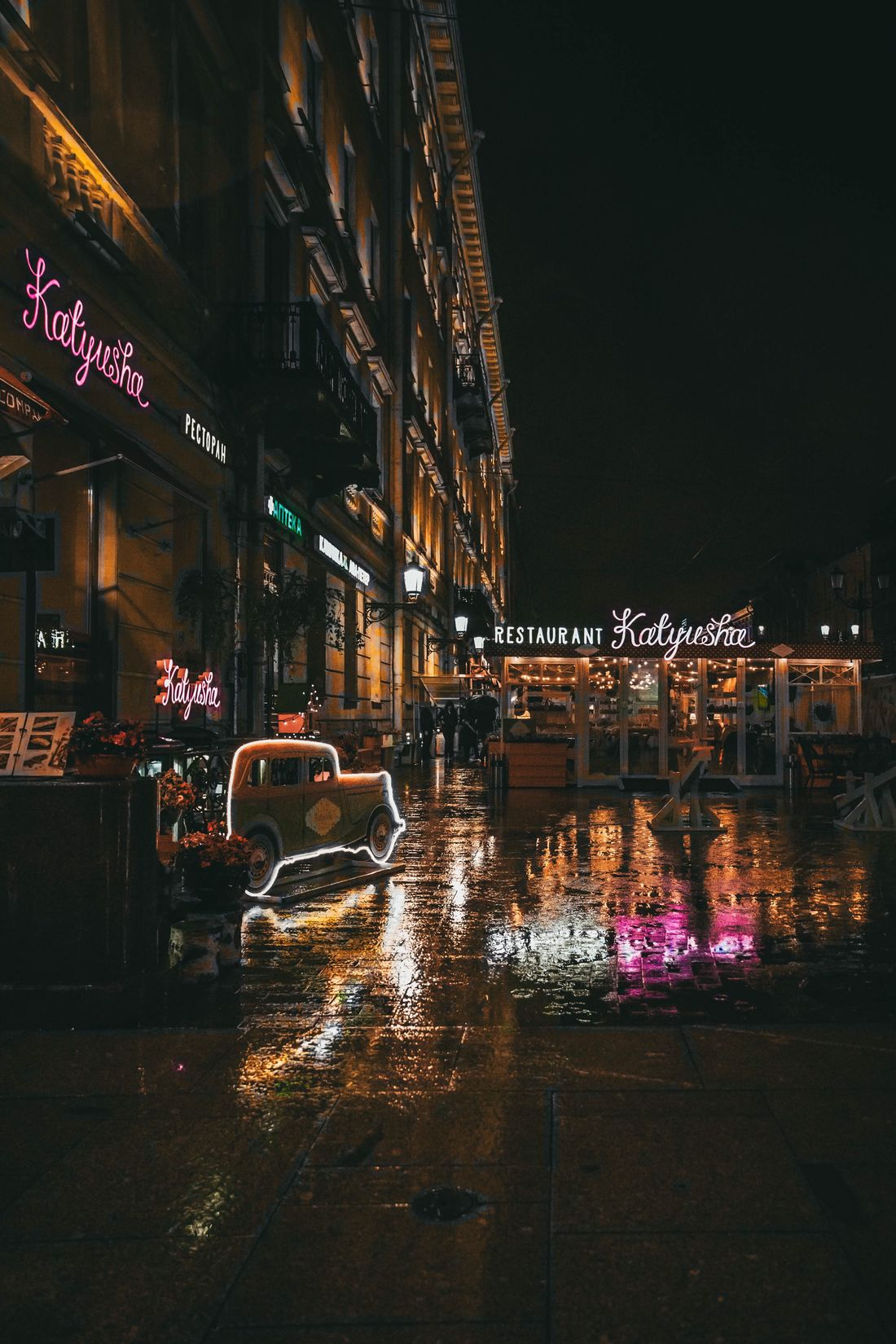 Night Building Exterior Architecture Built Structure Illuminated Street City Outdoors Transportation Water No People Sky