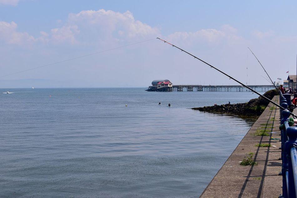 Taking Photos Coastline Sunnyday... Sea Boats Handrail  Slipway. Fishing Rods Nikon D5500