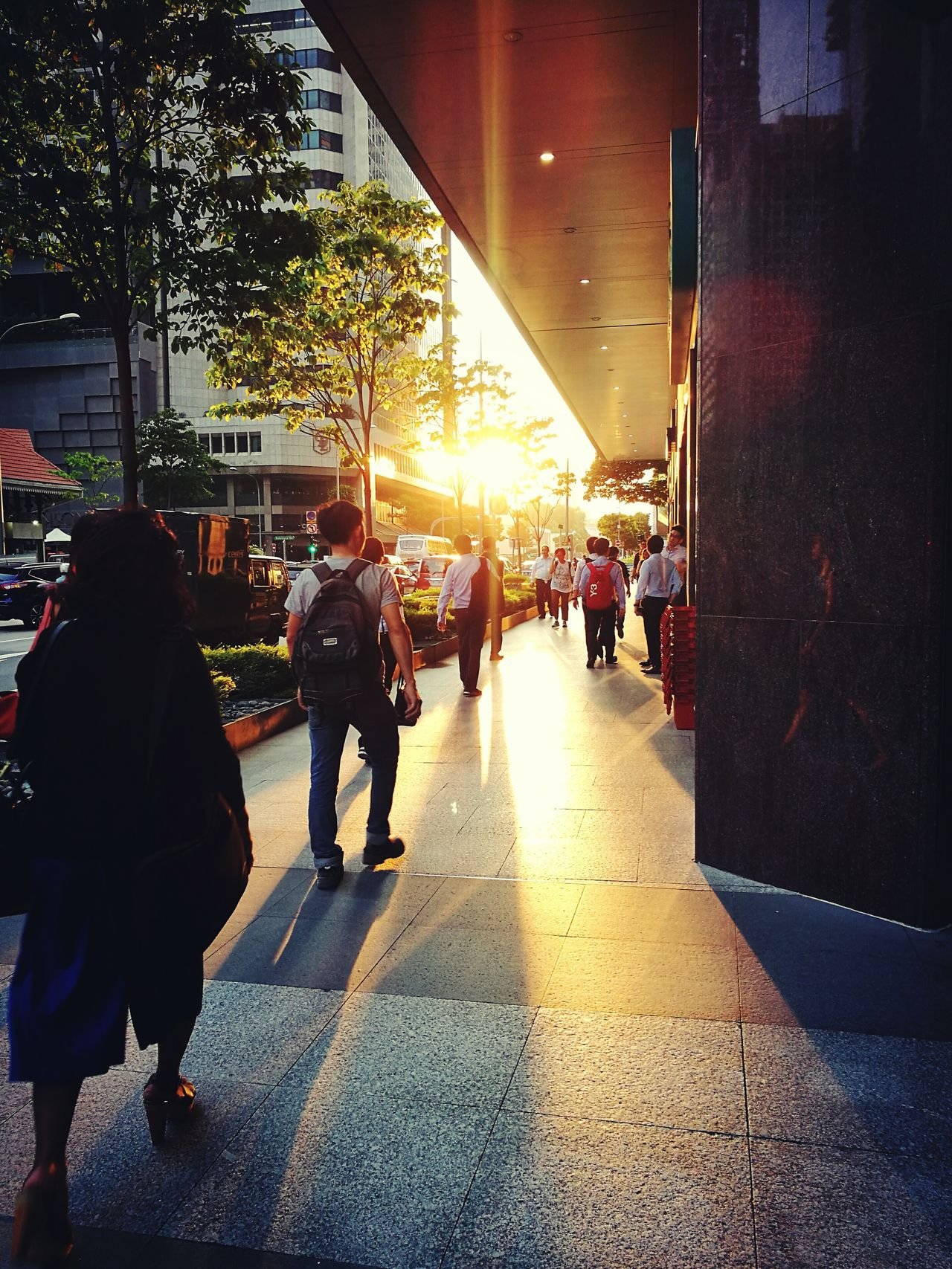 People Adult Men Women Sunset Adults Only Large Group Of People Outdoors Real People City Day Only Men Sky CBD Office Building NOMAD Sunset_collection Warm Walk This Way The Great Outdoors - 2017 EyeEm Awards