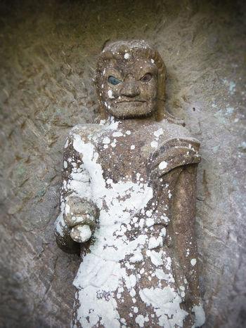 Bi-eyed Jizo Nokogiriyama Oddeyes Statue Stone Statue 地蔵 石像 鋸山 2014