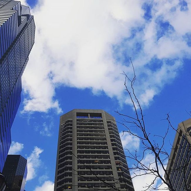 Beautiful clouds in the city Streetphotography Spring Philly LibertyPlace InstaTags4Likes Centercityphilly Centercity
