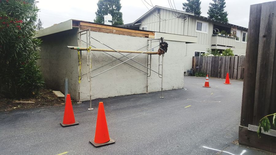 Traffic Cone Safety Danger No People Day Built Structure Outdoors Building Exterior