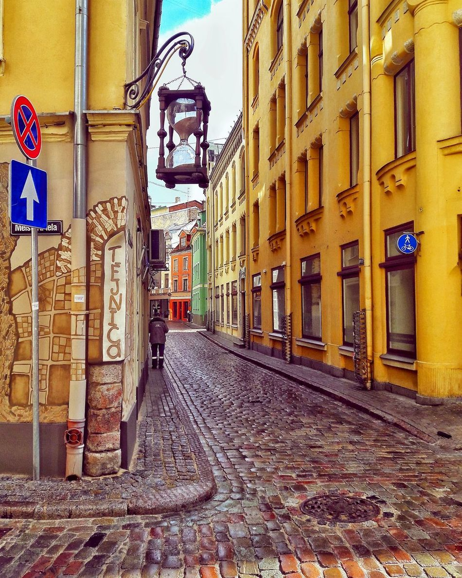 Riga Riga Latvia The Way Forward Architecture Built Structure Building Exterior Outdoors Day No People City Rigaplaces Street