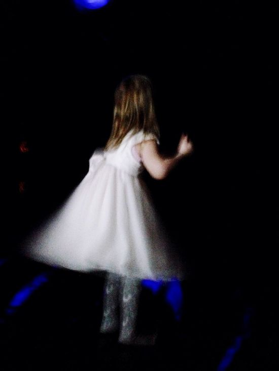 Toddler  White Dress Twirling Dancing Blurred Motion One Person Children Only People One Girl Only Child Indoors  Night