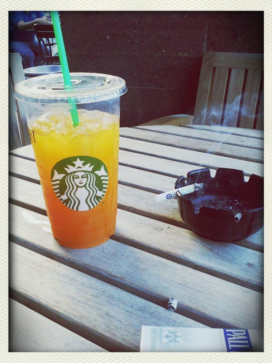 Enjoying Life Drinking Starbucks MangoMaracuya In Monterrey