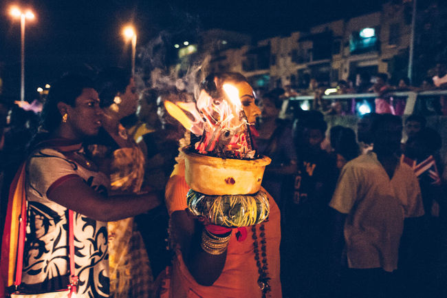Cultures Devotees Flame Focus On Foreground Heat - Temperature Hinduism Illuminated Night Religion Religious  Thaipusam2016 The Photojournalist - 2016 EyeEm Awards