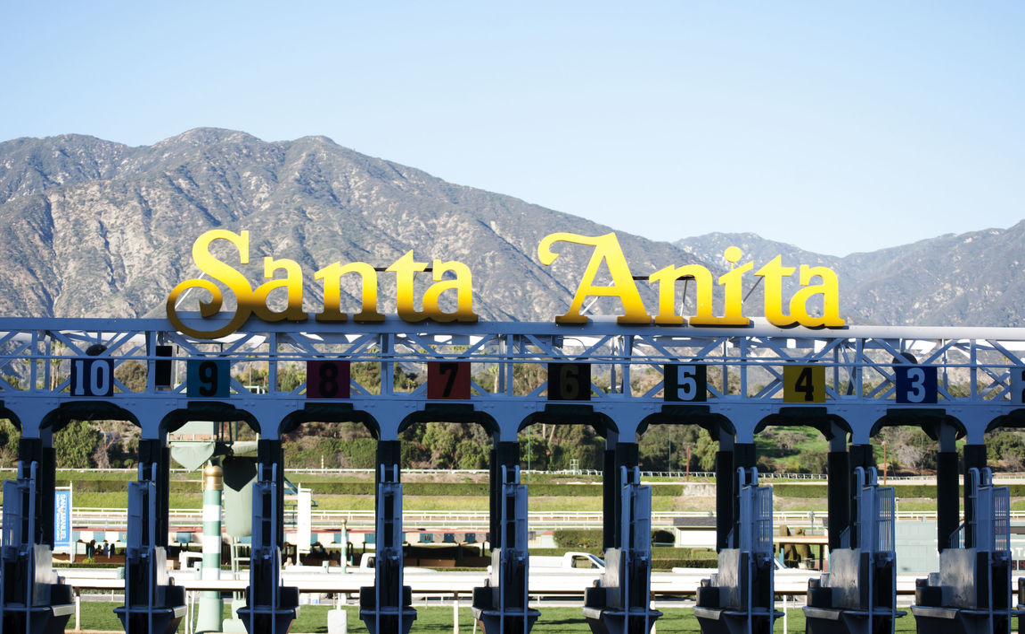 Arcadia Clear Sky Day Horse Racing Landmark Mountain No People Outdoors Race Track Santa Anita Santa Anita Race Track