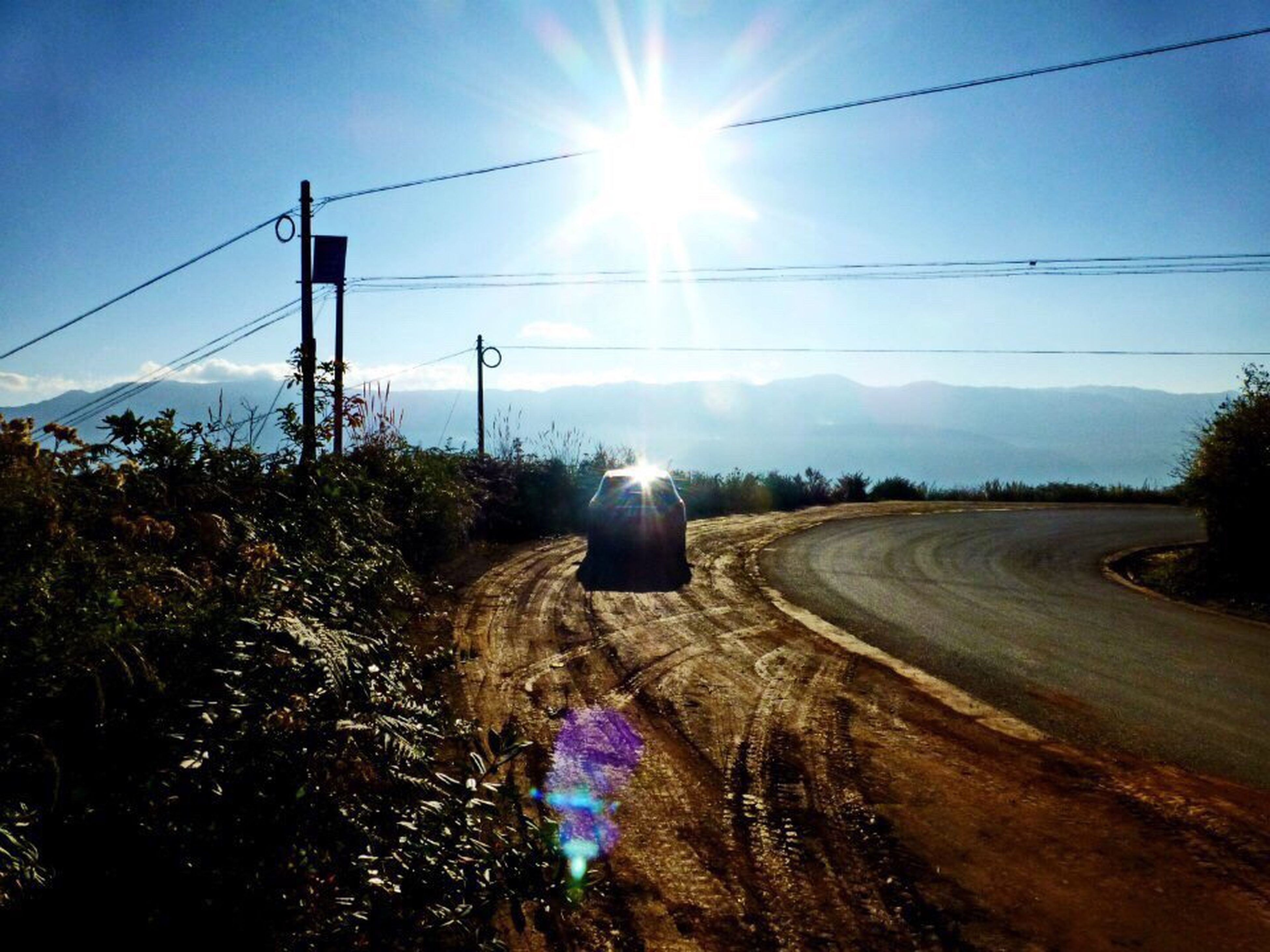 The Drive On The Road Sunlight Morning Light Dongchuan Yunnan China Forever Young
