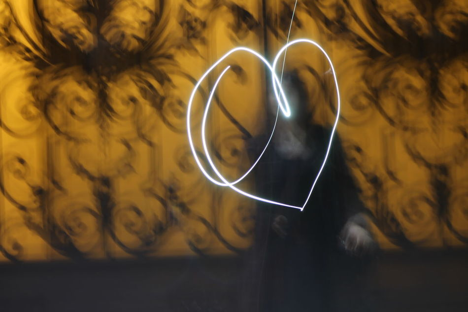 Close-up Freshness Heart Shape Heart ❤ Illuminated Indoors  Love Night Lights Nightphotography Yellow