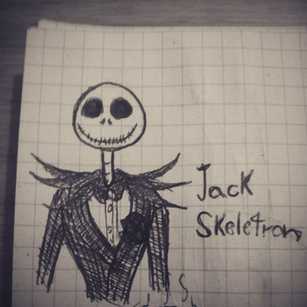 A little Jack on my notebook Drawing Pen Jack TheNightmareBeforeChristmas Timburton