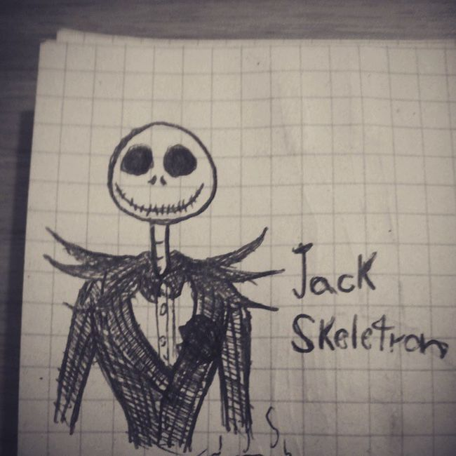 A little Jack on my notebook Drawing Pen Jack TheNightmareBeforeChristmas Timburton